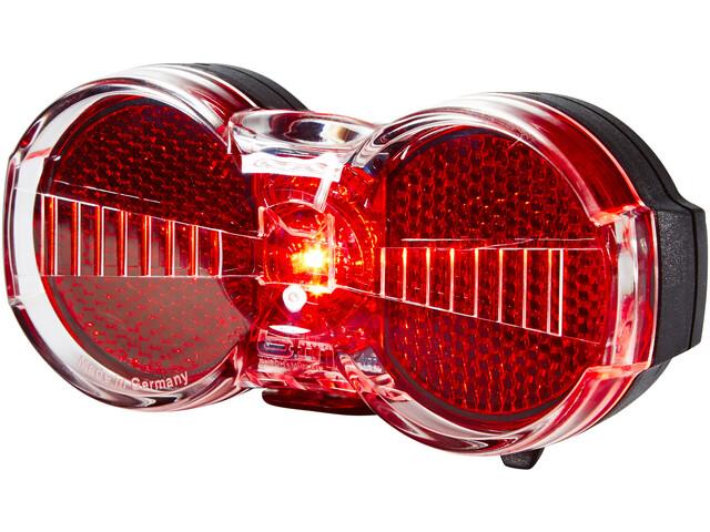 Busch + Müller Toplight Flat S Faretto posteriore a batteria permanente, nero